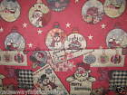 CHRISTMAS BAUBLES / FATHER CHRISTMAS LIGHTWEIGHT TAPESTRY FABRIC CRAFTS CUSHIONS