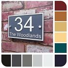 Persona House Sign Door Number Street Address Plaque Modern 'Rectangle + Border'