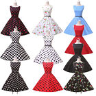 A-LINE Vintage Retro 50s 60s Pinup Swing XMAS Prom Party Mother Dress
