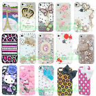 FOR IPHONE 4/4S CASE LUXURY BLING CRYSTAL DIAMOND 3D COVER + Free SCREEN FILM