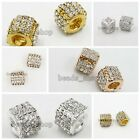 5/25pcs Lots Nice Gold/Silver Plated Rose Gold European Charms Beads Hot Sale BS