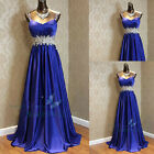 Straps Beaded Long Formal Bridesmaid Dresses Ball Gown Party Evening Dress 6-16