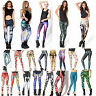 Women Sexy Printed Leggings Winter Gift New Year Pants Cosmos Frozen Sports Crps