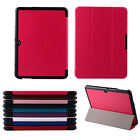 """Leather Folio Case Cover For Samsung Galaxy Tab 4 10.1"""" SM-T530 Tablet Gorgeous"""