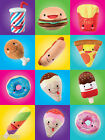New HAPPY SNACKS Fast food soft Toy Sega Ice cream Burger Do nut Fast Food Plush