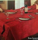 XMAS RED ROSE PATTERN TABLEWARE - TABLECLOTHS NAPKINS RUNNERS MATS ANY OCCASION