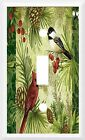 BEAUTIFUL PINE CONES AND BIRDS HOME DECOR LIGHT SWITCH COVER OR OUTLET V771