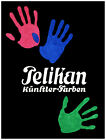 4737.Pelikan.multicolored hands on black bkgd.POSTER.Decoration.Graphic Art