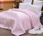 Seamless 100% Silk Duvet Cover Quilt Cover Twin Full Queen King Cal King Pink