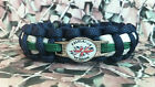 Falklands Veteran 550 Paracord Survival Bracelet / Dog Collar