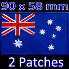 2 x Australia Australian Large Embroidered Iron On Patch Flag Sydney Melbourne
