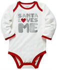 CARTER'S BABY GIRL CHRISTMAS SANTA LOVES ME GLITTER BODYSUIT TOP SHIRT 3M