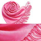 Pashmina Cashmere Silk Solid Shawl Wrap Unisex Long Range Scarf <br/> 1000+ sold, 20 colors, high quality