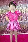 Rhinestone I Like Big Bow Hot Pink Minnie Dot Princess Dress Girl Costume 6M-8Y