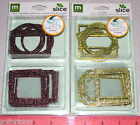 making memories Metal Tags Glitter Rim Slice Tags or use for Frames and Borders