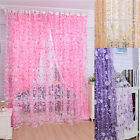 Print Floral Voile Door Curtain Window Room Curtain Divider Scarf Vogue
