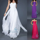 Chiffon Long Formal Party Ball Gown Bridesmaid Dress Prom Cocktail Evening Dress