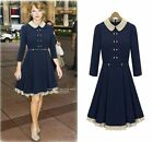Fashion womens Spring Winter Minimalist Elegant Delicate Long Sleeve Mini Dress