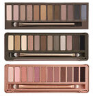 NEW 12 Color Eye Shadow Makeup Cosmetic Shimmer Matte Eyeshadow Palette +brush
