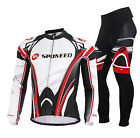 2016 New Cycling Jersey Set Men Autumn Long sleeve Bicycle Wear Gel Padded Pants