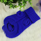 Pet Dog Puppy Cat  Warm Sweater Clothes Winter Apparel Costumes Size XS S M L XL