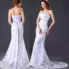 New Stock Womens Wedding Dress Evening Bridal Wedding Cocktail Party Prom Gown