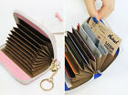 With Alice Accordion Card Wallet-Faux Leather Credit Card Holder Case Wallet-DSK