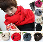Men Women Winter Warm Long Scarf Shawl Infinity 2 Circle Cable Knit Cowl Neck