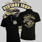 Hot Rod Customs Polo Shirt Vintage Iron Classic US V8 Chevy Rat Nissan VW S-XL