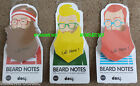 BEARD NOTES Sticky Post It Note - Various Colours