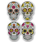 4 x Sugar Skull Vinyl Stickers Flower Art iPad Laptop Decal Girls Car Bike #4674
