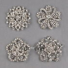 Alloy Glitter Rhinestone Bling Brooch Pins Jewelry Decoration f. Bridal/ Wedding