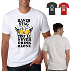 Custom T Shirt Printing Personalised Stag DO  Hen PARTY HOLIDAY