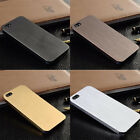 Ultra Thin Brush Metal Aluminum Shell Back Skin Case Cover For iPhone 5 5S Tide