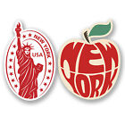 2 x New York USA Vinyl Stickers iPad Laptop Car Suitcase Travel Labels Fun #4810