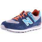 New Balance Speckled Print 574 Kids Synthetic & Mesh Grey Blue Trainers New