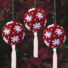 Kit makes 3 Chenille Christmas Ornaments    Red or Blue   NEW