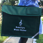 Personalised MUSIC Folder School Book Bag with Strap - Name Treble Clef Logo