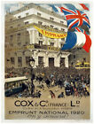4886.Cox & Co (Frances).people loitering on street.POSTER.Decoration.Graphic Art