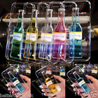 3D Bottle Pattern Clear Hard Dynamic Liquid Quicksand Case Cover For iPhone 6