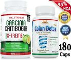 Potent 95% HCA 180 GARCINIA CAMBOGIA+COLON DETOX/Cleanse Weight Loss/Digestion $29.85 USD on eBay
