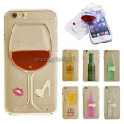3D Moving Wine Liquid Dynamic Quicksand Cover Case For iPhone 5/5S/SE/6/6 Plus