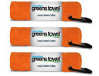 "3 Clip Wipes Microfiber Greens Towels 15"" x 15"" - *CHOOSE color*"