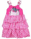 Deux par Deux Plaid Bubble Dress Strawberry Field, Sizes 18M, 24M, 3, 4