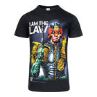 Judge Dredd T Shirts New Official Mens Judge Dredd I Am The Law Black Tshirt