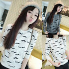 Faddish Ladies Round Neck Long Sleeve Pullover Jumper Sweater Knitwear Tops FOUK