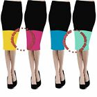Womens WEAR to WORK PARTY club celebrity Fitted Pencil Bodycon Midi Skirt Dress