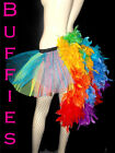 Gay pride / Rainbow / Burlesque / Festival / Bright Tutu Feather Bustle 8-18