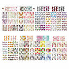 ST32 1 Sheet, 4 Sheets 11-in-1 Nail Art Water Transfers Decals-French Styles