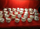 Vintage China Milk Jug & Sugar Bowl Tea Set Cup Plate Saucers Creamers Weddings